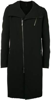 Masnada double breasted front zip coat