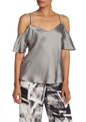 Go Silk Go by Reveal Cold Shoulder Silk Top