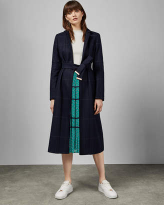 Ted Baker SAMNTHA Checked cuff detail trench coat
