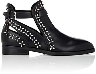 Alaia Women's Petal-Embellished Leather Ankle Boots