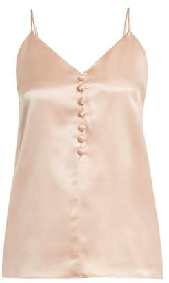 Hillier Bartley - V Neck Silk Cami Top - Womens - Light Pink