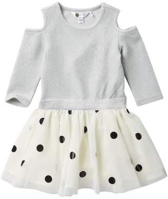 Petit Lem Cold Shoulder Knit Dress (Toddler & Little Girls)