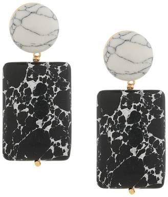 Lele Sadoughi marble effect drop earrings