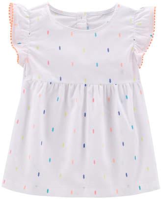 Carter's Dot Print Baby Doll Short Sleeve Top - Preschool Girls
