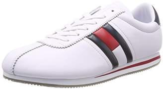 f10db7da867389 Tommy Jeans Hilfiger Denim Men s Retro Flag Sneaker Low-Top (White ...