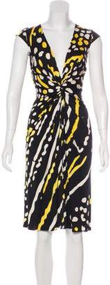 Issa Printed Midi Silk Dress