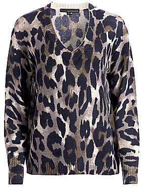 360 Cashmere Women's Geraldine Leopard Cashmere Sweater