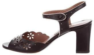 Tabitha Simmons Leather Laser Cut Sandals