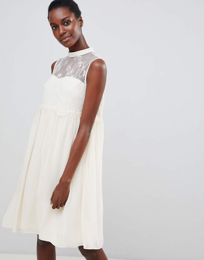 – Swing-Kleid mit Spitzeneinsatz
