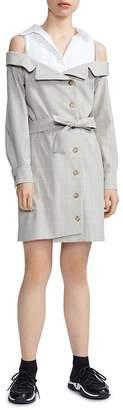 Maje Redwan Layered-Look Shirt Dress