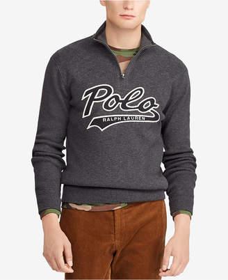 Polo Ralph Lauren Men's Cotton Half-Zip Sweater