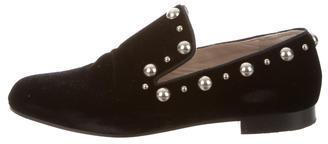Marc JacobsMarc Jacobs Velvet Embellished Flats