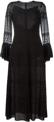 Saint Laurent bell sleeve broderie anglaise dress