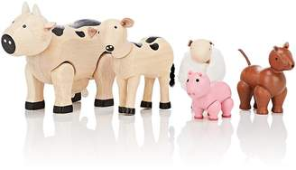 Plan Toys WOODEN FARM ANIMAL SET