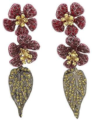 Valentino WOMEN'S FLORAL EAR JACKETS - GOLD