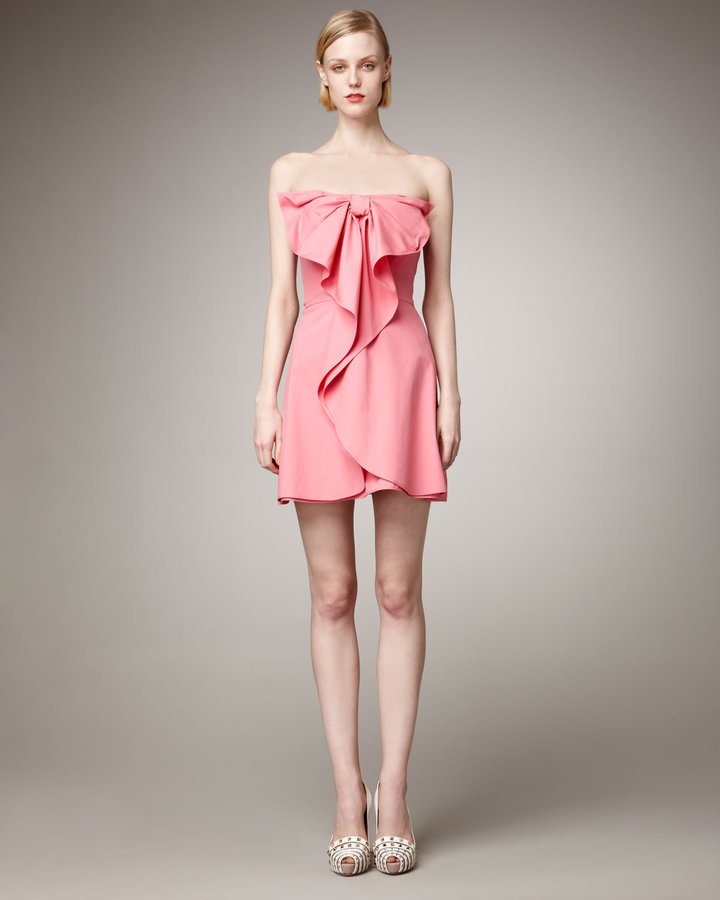 Valentino Strapless Bow Dress