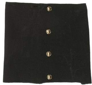 Burberry Rib Knit Button-Embellished Snood