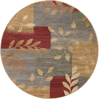 TAYSE Tayse Ditton Transitional Abstract Round Area Rug