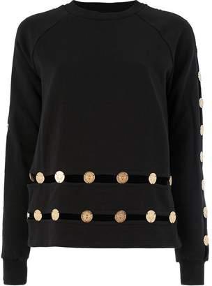 Balmain embossed coin sweatshirt