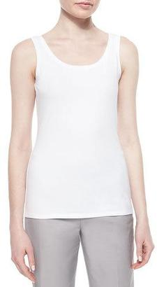 NIC+ZOE Perfect Jersey Scoop-Neck Tank, Paper White $44 thestylecure.com