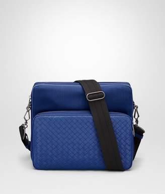 Bottega Veneta Cobalt Blue Canvas Messenger Bag