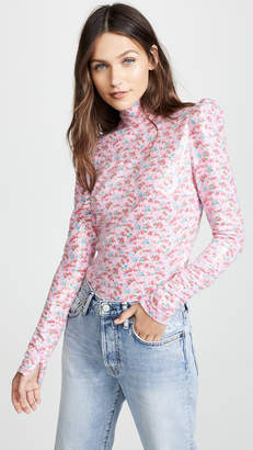 pushBUTTON Floral Sequin Blouse