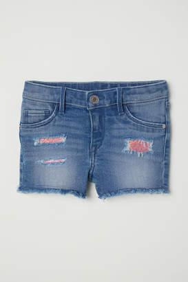 H&M Denim Shorts with Sequins - Blue