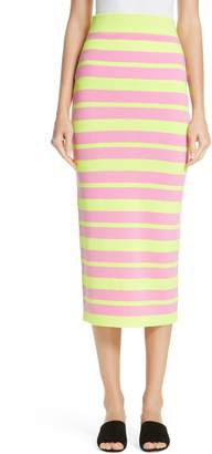 VICTOR GLEMAUD Stripe Knit Maxi Skirt