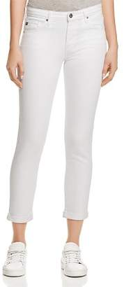 AG Jeans Prima Roll Up Jeans in White