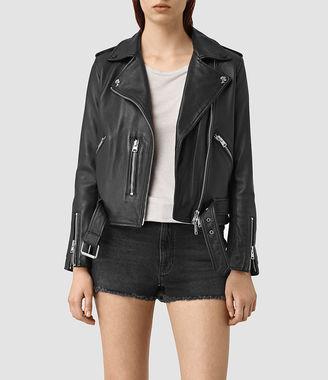 Balfern Palm Leather Biker Jacket $540 thestylecure.com