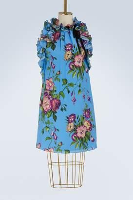 Gucci August Bouquet silk dress