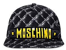 Moschino Women's x Sims Pixel Capsule Logo Graphic Canvas Baseball Cap