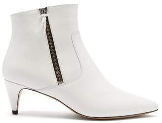 Isabel Marant - Deby Leather Ankle Boots - Womens - White