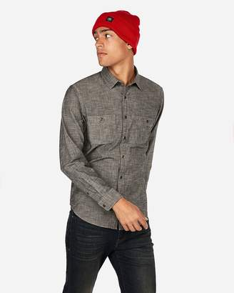 Express Chambray Button-Down Shirt