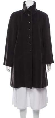 Armani Collezioni Virgin Wool Knee-Length Coat