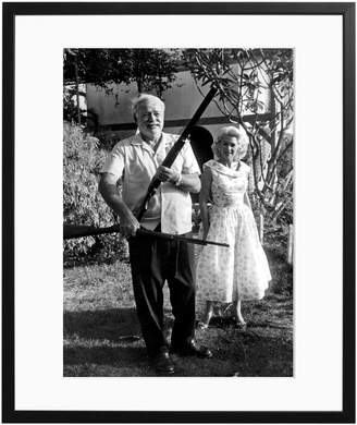 Sonic Editions Hemingway and Carol by Jerome Brierre/Bridgeman Images (Framed)