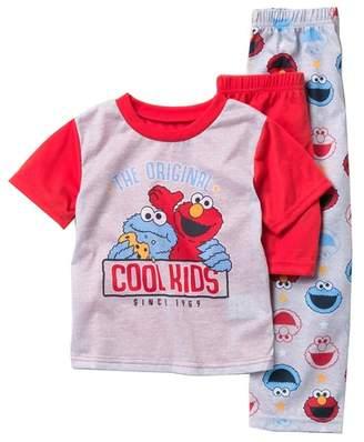 fe31f9a357 AME Elmo   Cookie Monster Original Cool Kids Pajama 3-Piece Set (Toddler  Boys