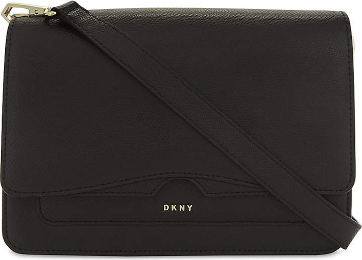 Dkny Bryant Park Saffiano leather front flap cross-body bag