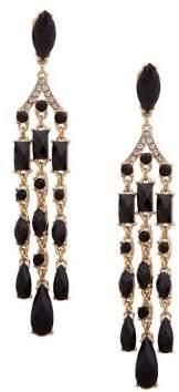 Anne Klein Goldtone & Crystal Chandelier Earrings