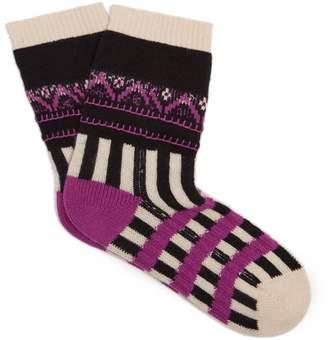 Burberry Patchwork cashmere-blend socks