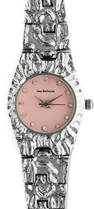 Jean Bellecour Unisex-Adult Quartz Watch, Analogue Classic Display and Stainless Steel Strap REDS22-SP