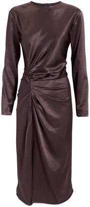 Helmut Lang Crinkle Satin Dress