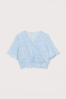 H&M Wrapover patterned blouse