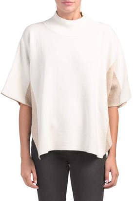 Made In Italy Dolman Sleeve Mock Neck Poncho