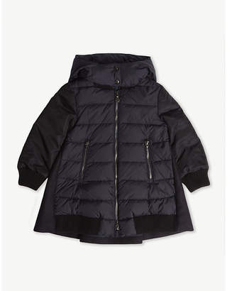 Moncler Blois wool and nylon quilted coat 4-14 years