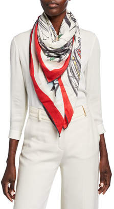 Loro Piana Snow Wonderland Cashmere-Silk Shawl