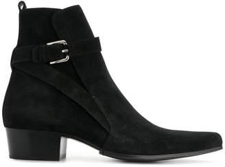 Balmain buckled ankle boots