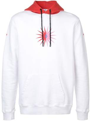 Marcelo Burlon County of Milan contrast print hoodie