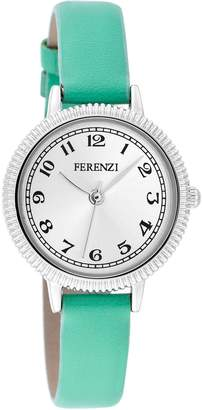 Tiffany & Co. Ferenzi Women's | Small Classic Face Watch with Style Green Band | FZ15903