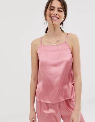 Asos Design DESIGN mix & match satin pyjama cami